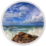 Toco Blues Round Beach Towel