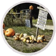 Round Beach Towel featuring the photograph Today's Harvest by Cricket Hackmann