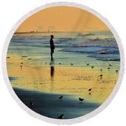 Today's The Day When Anything Is Possible Round Beach Towel