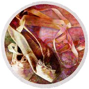 Toe Shoes Round Beach Towel
