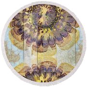 Tofu Unclothed Flower  Id 16165-030907-41931 Round Beach Towel