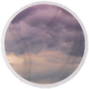 Together Looking At The Sky Round Beach Towel by Edgar Laureano