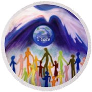 Together... Round Beach Towel