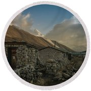 Round Beach Towel featuring the photograph Toilet by Mike Reid