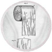 Toilet Paper Roll Patent Round Beach Towel by Taylan Apukovska
