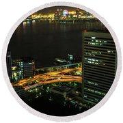 Tokyo Bay Area Skyline Round Beach Towel