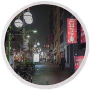 Tokyo Streets, Asakusa, Japan Round Beach Towel