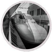 Tokyo To Kyoto Bullet Train, Japan 3 Round Beach Towel