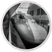 Tokyo To Kyoto Bullet Train, Japan 3 Round Beach Towel
