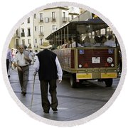 Round Beach Towel featuring the photograph Toledo Man 2 - Spain by Madeline Ellis