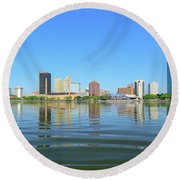 D12u-673 Toledo Ohio Skyline Photo Round Beach Towel