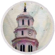 Tollel Maja Round Beach Towel by Greg Collins
