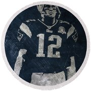 Tom Brady Patriots 4 Round Beach Towel