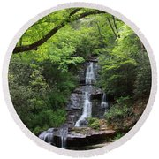 Tom Branch Falls - Gsmnp Round Beach Towel