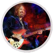 Tom Petty And The Heartbreakers Round Beach Towel