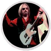 Tom Petty, Hypnotic Eye Round Beach Towel