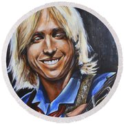 Tom Petty Round Beach Towel