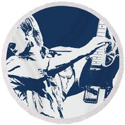Tom Petty - Portrait 02 Round Beach Towel
