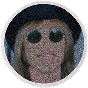 Tom Petty Song List Mosaic Round Beach Towel