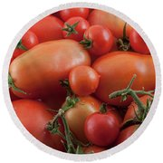 Round Beach Towel featuring the photograph Tomato Mix by James BO Insogna