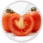 Tomatoes Round Beach Towel by Fabrizio Troiani