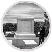 Round Beach Towel featuring the photograph Tomb Of The Unknown Solider by David Morefield