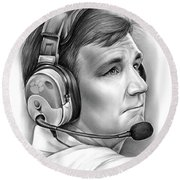 Tommy Bowden Round Beach Towel by Greg Joens