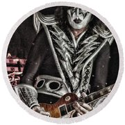 Tommy Thayer Round Beach Towel