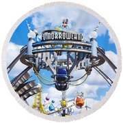 Tomorrowland Round Beach Towel by Greg Fortier