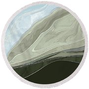 Tone Poem Round Beach Towel