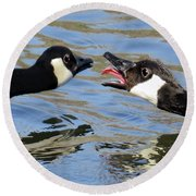 Talking Tongue Round Beach Towel