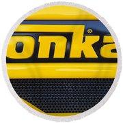 Tonka Truck Logo Round Beach Towel
