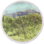 Tonto National Forest Round Beach Towel