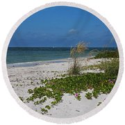 Round Beach Towel featuring the photograph Too Much Space Between Us by Michiale Schneider