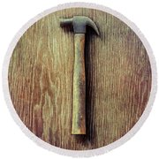 Tools On Wood 53 Round Beach Towel