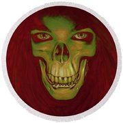 Toothy Grin Round Beach Towel