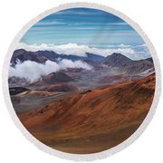 Top Of Haleakala Crater Round Beach Towel