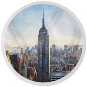 Top Of The 30 Rock Round Beach Towel