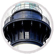 Top Of The Lighthouse Round Beach Towel