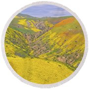 Round Beach Towel featuring the photograph Top Of The Temblor Range by Marc Crumpler