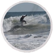 Top Of The Wave Round Beach Towel