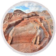 Top Of The World At Valley Of Fire Round Beach Towel