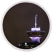 Top Of Vancouver Restaurant Round Beach Towel