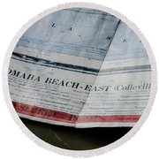 Top Secret - Omaha Beach Round Beach Towel