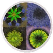 Topees Undraped Flower  Id 16165-160418-61150 Round Beach Towel