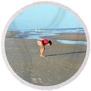 Topsail Island Beach Round Beach Towel by Eva Kaufman