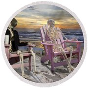 Topsail Tales Round Beach Towel by Betsy Knapp