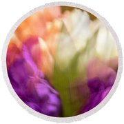 Topsy Turvy Tulips Round Beach Towel by Cathy Donohoue