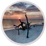 Torch Round Beach Towel by Robert Loe