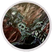 Tormented Soul Round Beach Towel